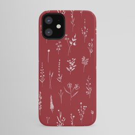 Red Wildflowers iPhone Case