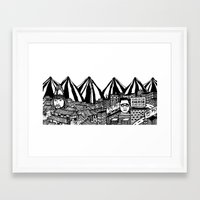 korea Framed Art Prints featuring Korea by Matt Ferguson