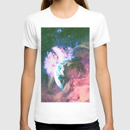 Space Earth Watercolor T-shirt
