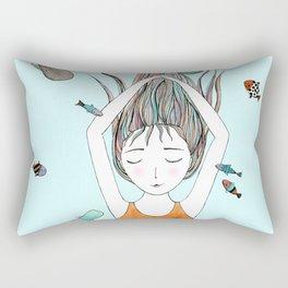 Curious whales Rectangular Pillow