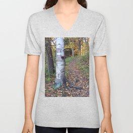 Birch Tree Trail Unisex V-Neck