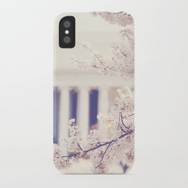 Cherry Blossoms at the Jefferson Memorial Washington DC iPhone Case