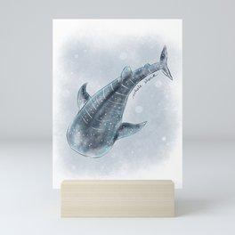 Whale Shark Watercolor Mini Art Print