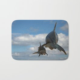 Vaquitas in the Clouds Bath Mat
