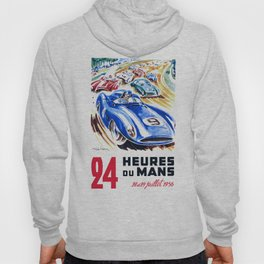 1956 24 Hours of Le Mans Race Poster Hoody
