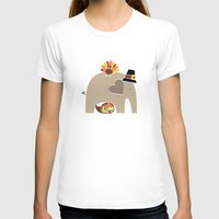 thanksgiving T-shirts featuring Happy Thanksgiving Elephant by Elephant Love