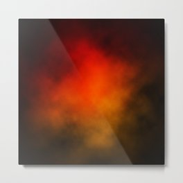 Red-Orange Nebula Metal Print