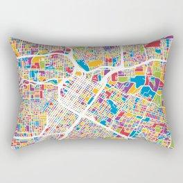 Houston Texas City Street Map Rectangular Pillow
