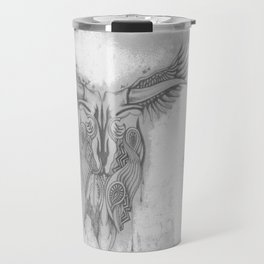 Winged skull Travel Mug