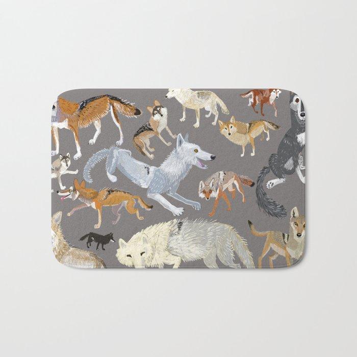 Wolves of the world 1 Bath Mat