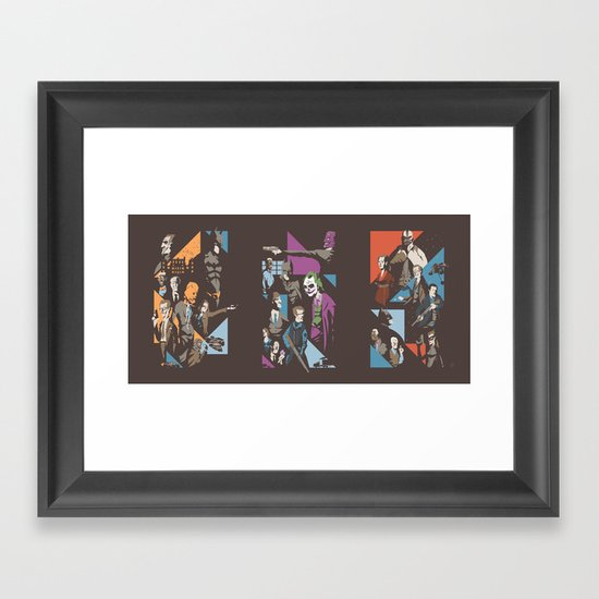 Fear - Chaos - Pain Framed Art Print
