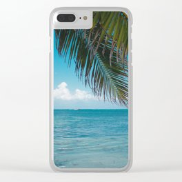 Palm Tree Life Clear iPhone Case