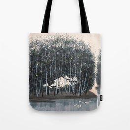 Wu Guanzhong 'Village in the Woods' - 吴冠中 树林村 Tote Bag