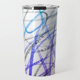 Expressive and Spontaneous Abstract Marker Travel Mug