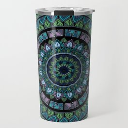 Colorful Spring Mandala Travel Mug