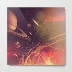 Space Fire Metal Print