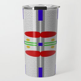 Shades of grey with different colors Travel Mug