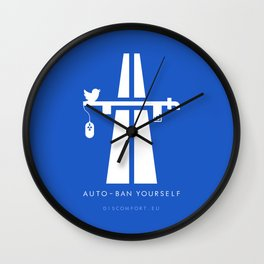 AutoBan Yourself Wall Clock