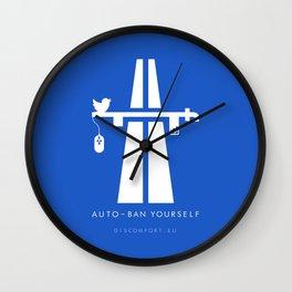 AutoBan Yourself Wall Clock
