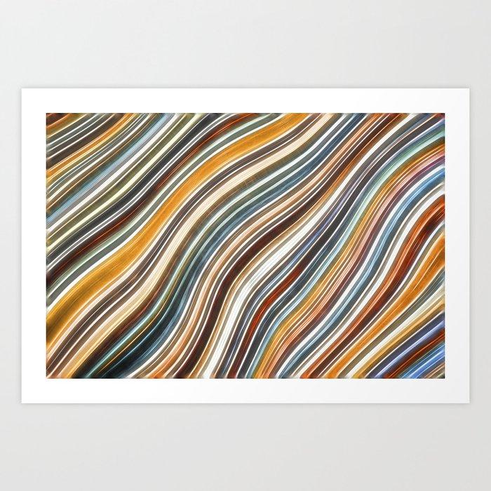 Wild Wavy Lines 15 Art Print
