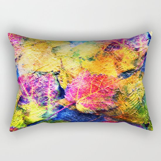 Fall Leave Abstract Rectangular Pillow