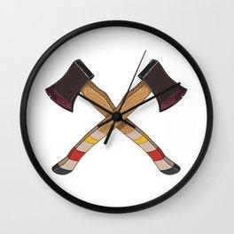 Pendleton Ax Wall Clock