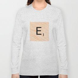Scrabble E - Large Scrabble Tiles Long Sleeve T-shirt