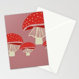 red mushrooms Stationery Cards