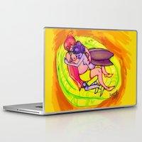 fairies Laptop & iPad Skins featuring sleeping fairies by Mottinthepot