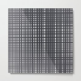 Light Grey Dotted Lines on Grey Metal Print