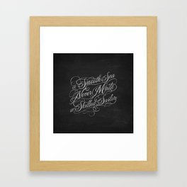 Smooth Sea Framed Art Print