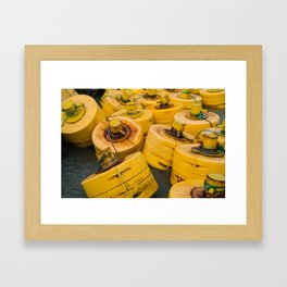 Yellow gathering Framed Art Print