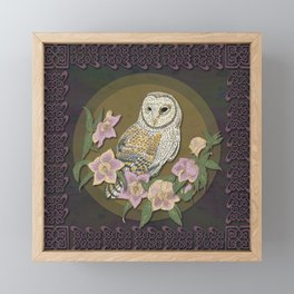 Celtic Barn Owl Framed Mini Art Print