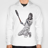 tennis Hoodies featuring Tennis Borg by Paul Nelson-Esch Art