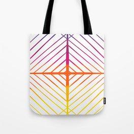 Sunset Gradient Lines Tote Bag