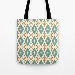 Mid Century Modern Atomic Triangle Pattern 102 Tote Bag
