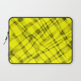 Bright metal mesh with yellow intersecting diagonal lines and stripes. Laptop Sleeve