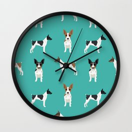 Rat Terrier dog breed pet art dog pattern gifts unique pure breed Wall Clock