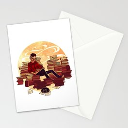 Book Lover Boy Stationery Cards