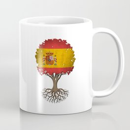 Vintage Tree of Life with Flag of Spain Coffee Mug
