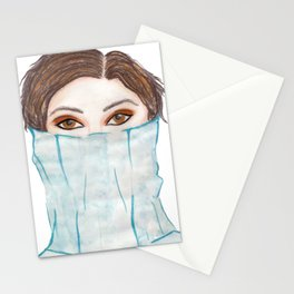 pencil and watercolour fashion art  Stationery Cards