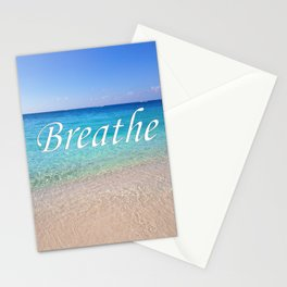 Breathe Cayman Relaxing Beach Waves Stationery Cards