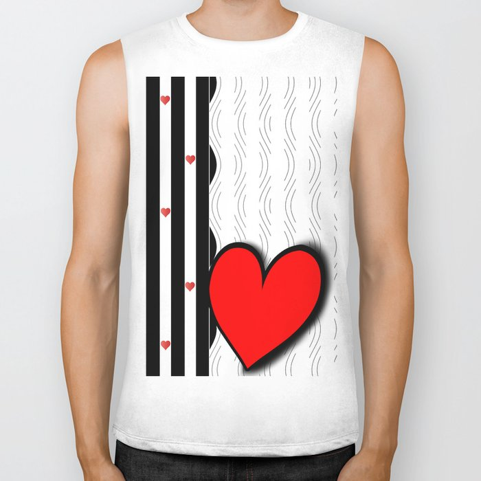 Black and white meets red Version 21 Biker Tank