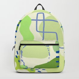 Suburbia from Above - Abstract Postmodern Retro Pattern Backpack