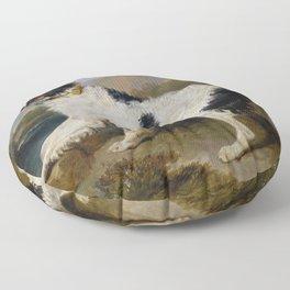 Edwin Landseer -  Lion A Newfoundland Dog Floor Pillow