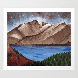 Serene Mountains Art Print