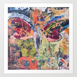 Butterfly Man, 3, Acrylic On Canvas, Chase Medved Art Print