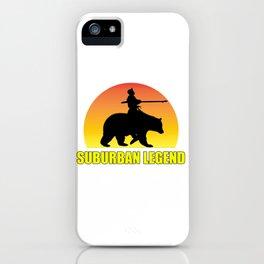 Suburban Legend Sunset iPhone Case
