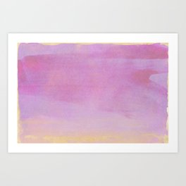 Minimal Abstract Lilac Colorfield Painting 01 Art Print