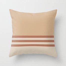Cavern Clay SW 7701 and Creamy Off White SW7012 Horizontal Stripes on Ligonier Tan SW 7717 Throw Pillow